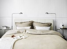 On chilly nights, an extra soft bedspread, like KARIT, adds just the right amount of cozy warmth.