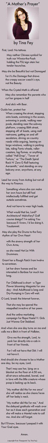 mother's prayer by tina fey