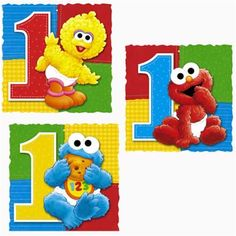 3 Danglers Per Package Each Dangler Measures Tall Elmo Birthday Invitations, 1st Birthday Party Supplies, Baby 1st Birthday, Happy Birthday Banners, First Birthday Parties, Sesame Street Party, Sesame Street Birthday, Elmo Party Decorations, Hanging Decorations