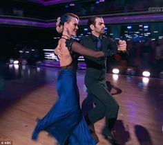 Leading the way: He and partner Peta Murgatroyd were definitely in the zone