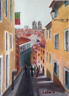 "Saatchi Art Artist Mar Bilbao ART; Painting, ""Porto Cathedral"" #art"