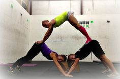 Working out with friends is always much more fun! Downward Dog Pyramid! Yoga + Gymnastics after our run!