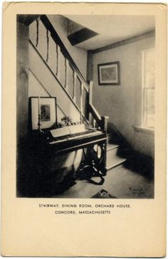 Piano at Orchard House (Alcott House. Notice the candlesticks!)