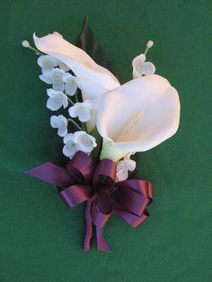 White Calla Lily Mother's Corsage Sangria Calla by BridalBouquets