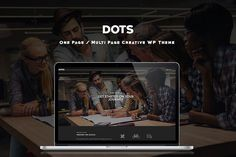 Dots - One Page/Multi Page WP Theme by RelentlessThemes on @Graphicsauthor