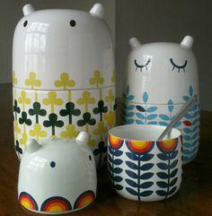 こんな雑貨陶器がキッチンにあったら毎日とても癒されますね♪北欧らしい柄と耳がかわいい!