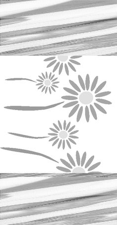 Free Stencils Collection: Flower Stencils: Free Flower Stencil: Daisy Border