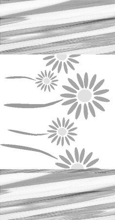 Free Stencils Collection: Flower Stencils: Free Flower Stencil: Daisy Border