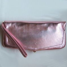 9c5eb84b8f Hobo International Wallet Wristlet Clutch Symphony Pink Metallic Leather  Evening