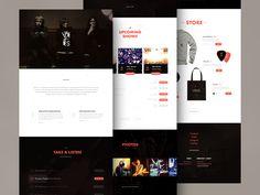 VEES - band website redesign by Jaromir Kveton
