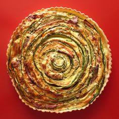 Receita Torta espiral de legumes e presunto cru