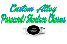 Custom Oval Alloy Paracord Charm Shoelace by FordsCordandSupplies