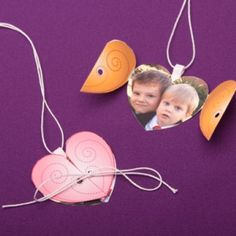 Gold Heart Locket for Valentine's Day  Kids will love making and gifting this sweet pink heart locket for Valentine's Day.