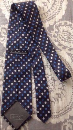 59a4b9ed31e Damat Men s Wear Polka Dot 100% Silk Tie Textured Blue Handmade Turkey  Luxury Silk