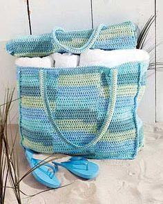 Crochet Beach Mat and Tote Bag