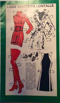 Paper Doll Lenita Airisto clothes 1968
