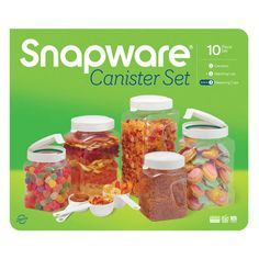 SNAPWARE 10-pc Airtight Square Canister Box Set. Discounted at $20 each