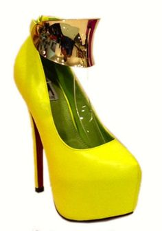 ca1b7ef4ab4 Nicole-high heel platform shoe with gold metal ankle strap