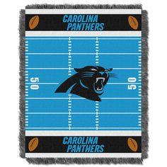 Carolina Panthers NFL Triple Woven Jacquard Throw (Field Baby Series) (36x48)