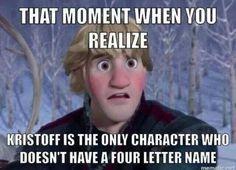 Olaf, Elsa, Anna, Sven, Hans, and Kristoff