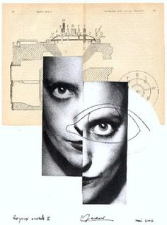 via regardintemporel:    Luc Fierens - Les Yeux Ouverts, 2006 Dada Collage, Collage Art, Collages, Photomontage, Situationist International, See Photo, Scrap, Writing, Creative