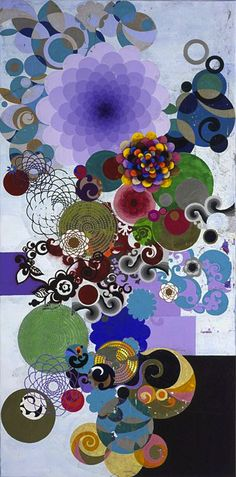 Beatriz Milhazes (born 1960) is a Brazilian artist. She is known for her work juxtaposing Brazilian cultural imagery and references to western Modernist painting. Wikipedia