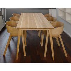 Natural Jutland Solid Oak Dining Table 220cm x 100cm | The Block Shop