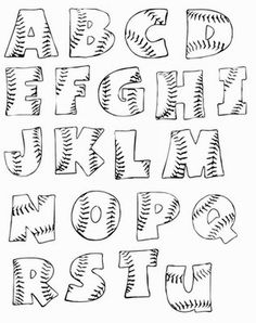 printable baseball bubble letters