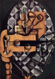 Juan Gris   Guitar, Bottle and Glass  1914  MOMA, NY