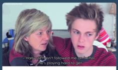 Caspar lee and his mum