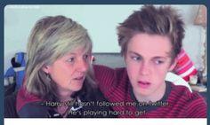 Caspar lee and his mum
