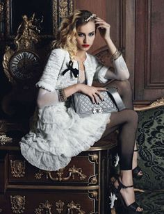 Alice Dellal by Karl Lagerfeld for Chanel S/S 2012