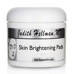 Skin Brightening Pads by Dr. Judith Hellman. $56.00. Recommended to assist in skin tone, hyperpigmentation, melasma.. Skin Brightening Pads - 60 pad jar. Cosmetic formulation, non-drug and non-systemic.. Hydroquinone-Free, Alcohol-Free, Acetone-Free.. These easy-to-use pads combine 2% Hydroquinone with Kojic Acid, Bearberry and Arbutin to even out pigmentation and skin tone. This product also contains protective antioxidants to soothe the skin and minimize irritation...