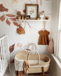 modern mediterranean homes Nursery Wall Decor, Baby Room Decor, Nursery Room, Girl Nursery, Girl Room, Baby Nursery Wallpaper, Vintage Nursery Decor, Bohemian Nursery, Baby Room Design
