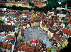 Tallinn, Estonia - The Medieval Old Town --- This place is so cutesy, like a little fairy tale!