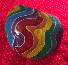 Odd shape rocked called for me to do rainbow colors. It's always a challenge and makes me happy to get it done. (09/11/2021) Weird Shapes, Kindness Rocks, Paint Pens, Getting Things Done, Rainbow Colors, Painted Rocks, Watermelon, Concept, Rock Painting