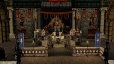 Throne Room with Knight Theme