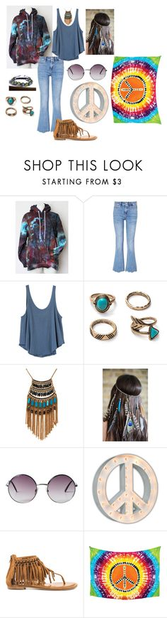 """""""Age of Aquarius"""" by freida-adams ❤ liked on Polyvore featuring M.i.h Jeans, RVCA, Leslie Danzis, Collections by Hayley, Monki, Vintage Marquee Lights, Not Rated and Cultural Intrigue"""
