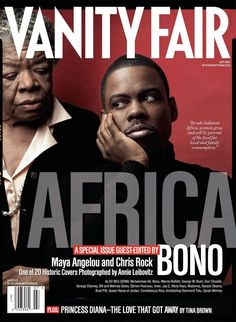 Maya Angelou and Chris Rock Vanity Fair July 2007 cover.  Photography by Annie Leibovitz.