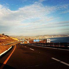 El camino es largo, pero la vista que obtienes del Océano pacifico en la carretera durante el recorrido es impresionante! #Ensenada te espera! Aventura por montoyavilla