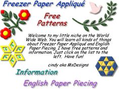 Great English paper piecing (hexagon and other shapes) website