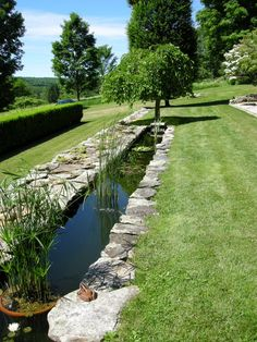 Link Garden: stylized rill Garden Conservancy Tour Litchfield Conn June 2014
