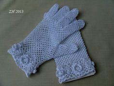 hluzdionv | Háčkované krajkové rukavičky – rajce.net