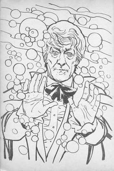 Doctor Who Coloring Page See More Plaid Stallions Rambling And Reflections On 70s Pop Culture Colouring Book Theatre