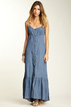 Free People Tencel Indigo Yarns Maxi Dress by Blowout on @HauteLook