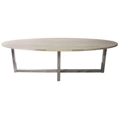 Modern Oval Table | From a unique collection of antique and modern dining room tables at https://www.1stdibs.com/furniture/tables/dining-room-tables/