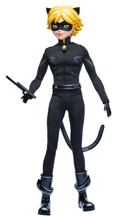 Miraculous Ladybug - Adrien as Chat Noir (a.k.a. Black Cat / Cat Noir) Fashion Doll - Miraculous fashion doll Chat Noir allows girls to recreate their favorite Chat Noir scenes - He is 10.5 inches tal