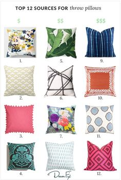 The top 12 sources for throw pillows (from budget-friendly to splurge worthy!)