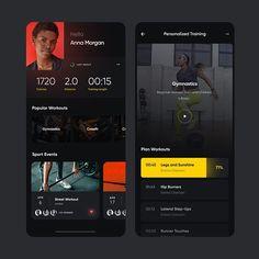 🅤🅘 🅘🅝🅣🅔🅡🅒🅔🅟🅣🅞🅡 в Instagram: «Interesting Fitness App Design Concept by @ziemarti» Fitness App, Street Workout, App Design, Gymnastics, Apps, Profile, Concept, How To Plan, Instagram