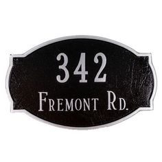 Montague Metal Products Cambridge Standard Address Plaque Finish: Black / White, Mounting: Wall